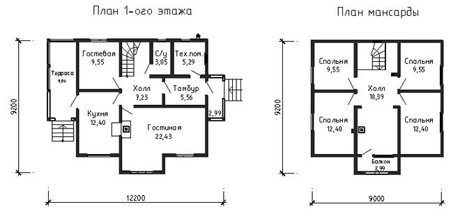 Схема планировки дома