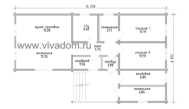 одноэтажные дома проекты фото до 100кв м