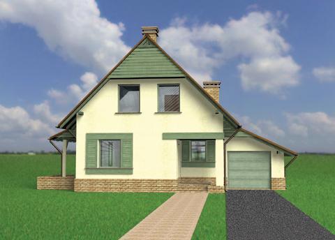 Проект дома из пеноблоков до 100 кв. м