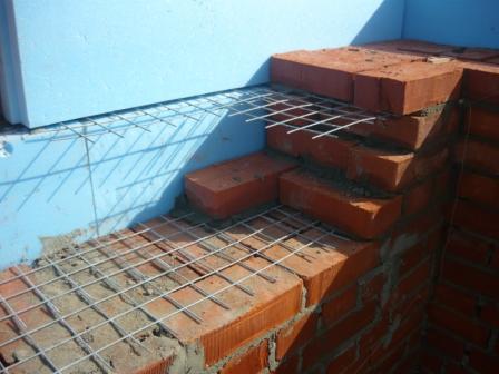 Облицовка стен дома кирпичом. | ГЛАВНАЯ