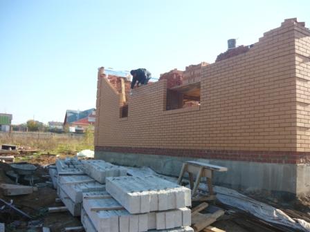 Этап 9. Монолитное перекрытие 1 этажа. строительство кирпичных домов